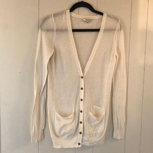 MADEWELL lightweight cardigan small 100% cotton